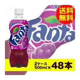 【送料無料】ファンタグレープ500mlPET 24本入×2ケース〔コカ・コーラ〕〔代引不可〕