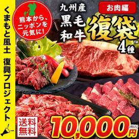 日本復興プロジェクト ふっこう復袋 お肉復袋 5品目 コロナに負けない あか牛 牛肉 豚肉 馬肉 馬刺し 福袋 復袋 送料無料 7-14営業日以内に出荷(土日祝除く)