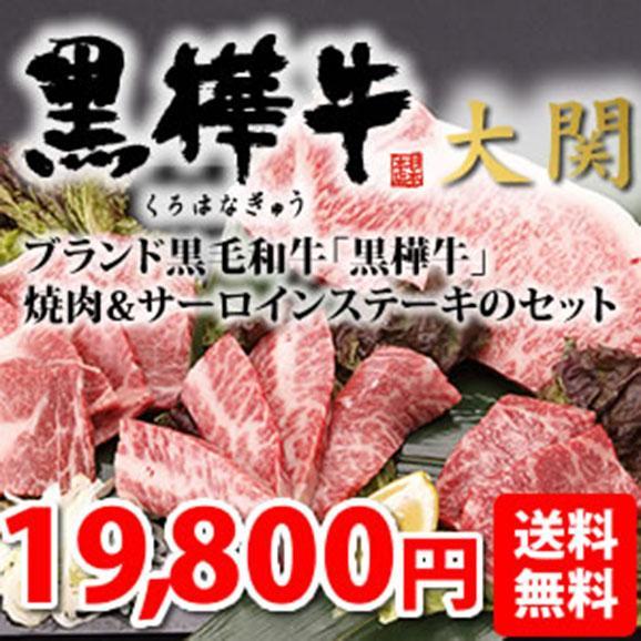 【送料無料】熊本のブランド黒毛和牛「黒樺牛」焼肉&ステーキセット「大関」01