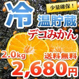 少量確保 デコポン と同品種熊本県産 冷温貯蔵 デコみかん 2kg 送料無料 2箱購入で1箱おまけ