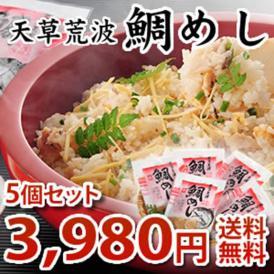 【送料無料】天草 まるき水産の「天草荒波鯛」鯛めし 5個セット