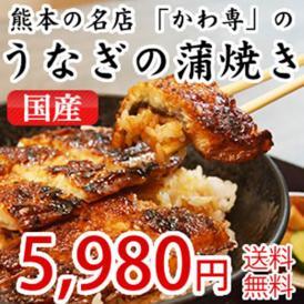 熊本の名店「かわ専」のうなぎ蒲焼き(かばやき)国産
