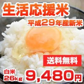 安くて安心・安全 熊本県産生活応援米 平成29年産新米 26kg [訳あり]