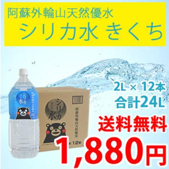 阿蘇外輪山天然優水「シリカ水 きくち」2L × 12本(合計24L)01
