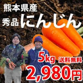 【送料無料】熊本県産 江藤さんの完熟にんじん 5kg(30~40本入り)