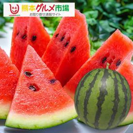 すいか 熊本スイカ 熊本県産 1玉 4~5kg 送料無料 一部地域は追加送料