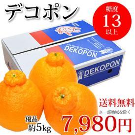 デコポン 優品 熊本県産 露地栽培  約5kg 光センサー選果