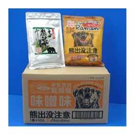 【送料無料】熊出没注意ラーメン みそ味10個入&えぞ熊笹茶パウダー30g