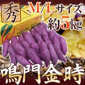 """徳島県産 """"鳴門金時"""" 秀品 M~Lサイズ 約5kg さつまいも【予約 9月以降】"""
