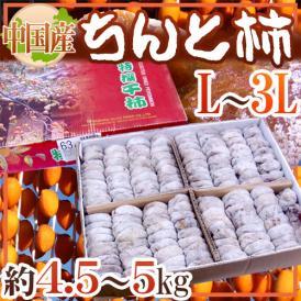 """【送料無料】""""ちんと柿"""" L~3L 約4.5~5kg 中国産【予約 12月以降】"""
