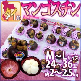"""【送料無料】タイ産 """"マンゴスチン"""" M~L 24~36玉前後 約2~2.5kg【予約 3月以降】"""