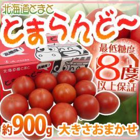 """【送料無料】北海道 """"とまらんど~トマト"""" 約900g 化粧箱【予約 6月中旬以降】"""