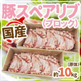 """【送料無料】国産""""豚スペアリブ ブロック"""" 約10kg 原体"""