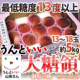日本最高峰!光センサーによる糖度保障の甘~い桃です♪