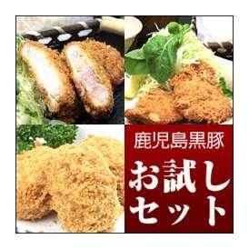 【送料無料】黒豚 鹿児島とんかつお試しセット  ご家庭で調理用(生、急速冷凍)