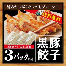 鹿児島 /黒豚餃子3/ ぎょうざ 3パックセット 送料無料(54個入、12人前)