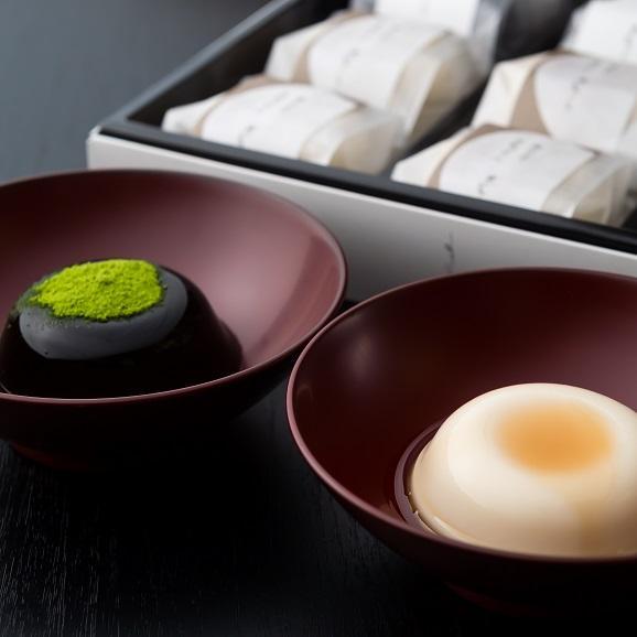 絹仕立て豆乳ぷりんと黒わらび餅詰め合わせ12個入り 「響」(ひびき) 2種類各6個入り01