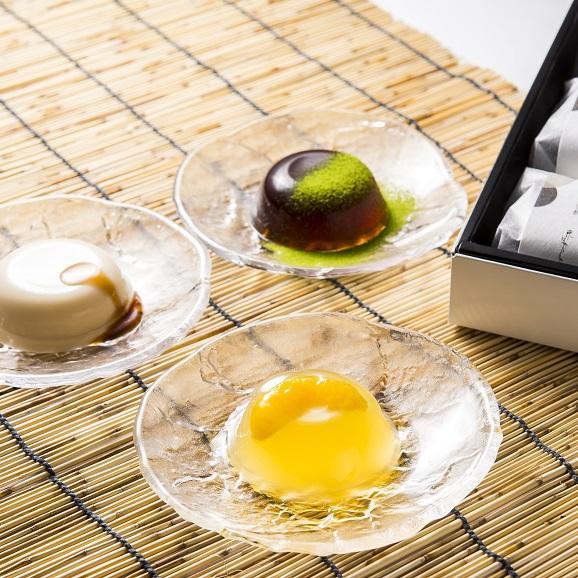 水菓子ギフト「澪(みお)」豆乳ぷりんと黒わらび餅、煎茶ぜりー12個詰合せ01