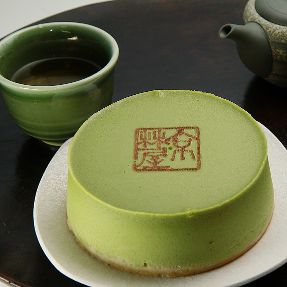 抹茶チーズケーキ01
