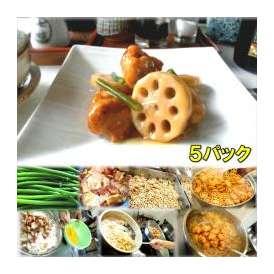 若鶏とレンコンの甘辛揚げ 5袋 敬老の日 惣菜 お惣菜 おかず お試し セット 冷凍 無添加 お弁当