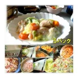 鶏肉と白菜のクリーム煮 5袋 敬老の日 惣菜 お惣菜 おかず お試し セット 冷凍 無添加 お弁当
