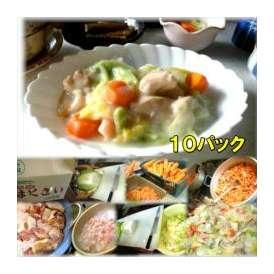 鶏肉と白菜のクリーム煮 10袋 敬老の日 惣菜 お惣菜 おかず お試し セット 冷凍 無添加 お弁当