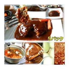 柔らかジューシーハンバーグ 5袋 敬老の日 惣菜 お惣菜 おかず お試し セット 冷凍 無添加 お弁当