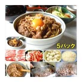 牛カルビ丼の具 5食 敬老の日 惣菜 お惣菜 おかず お試し セット 冷凍 無添加 お弁当