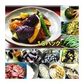 茄子と唐揚南瓜の京風甘辛あんかけ 10パック 敬老の日 惣菜 お惣菜 おかず お試し セット 冷凍 無添加 お弁当