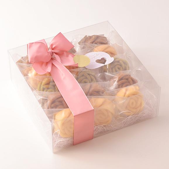 バラのマドレーヌギフト(クリア)【15個 入り】[バラのマドレーヌ…