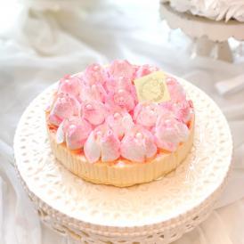 純生・冷凍ケーキ「メルティーローズ チーズケーキ5号」誕生日ケーキ・記念日・薔薇ケーキ・お菓子