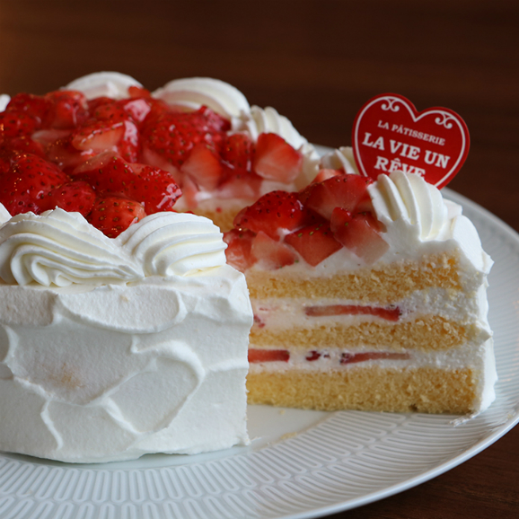 【6~7名】苺ショートケーキ15cm(5号)01