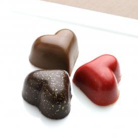ハートチョコレート(ダークビター、ミルク、ルージュ)