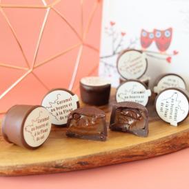 キャラッセルチョコレート 6粒(キャラメル入りチョコレート:ビター3粒、ミルク3粒)