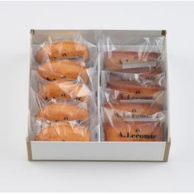 焼菓子の定番であるマドレーヌとフリアンを一箱に詰め合わせました。