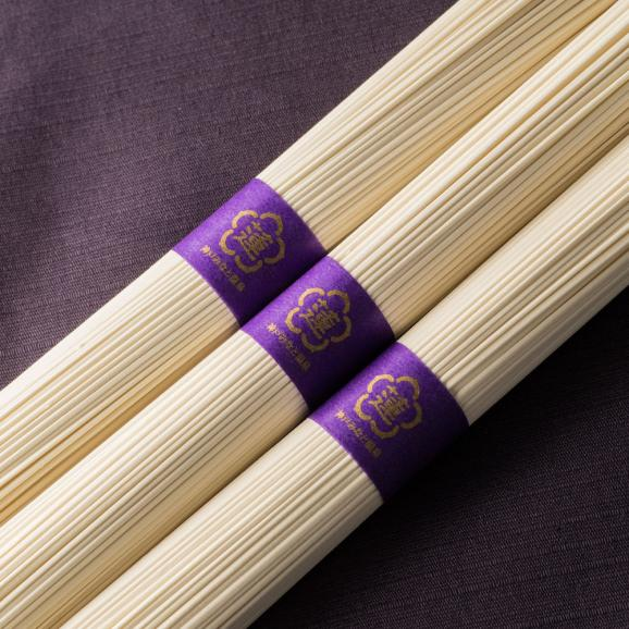 蓮オリジナル 播州古式特選 手延素麺(桐箱入 3個)02