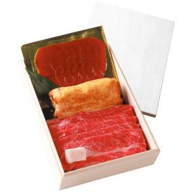 神戸牛ギフトセットC (すき焼き・しゃぶしゃぶ 木箱入りセット)風呂敷包
