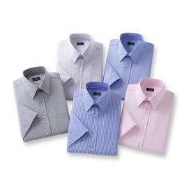 銀座・丸の内のOL100人が選んだ半袖ワイシャツ5枚セット(カラー系)[50411]
