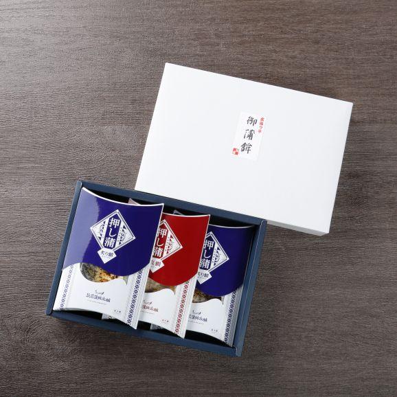 押し蒲 三本セット(炙り鯖×2・天然真鯛×1)04