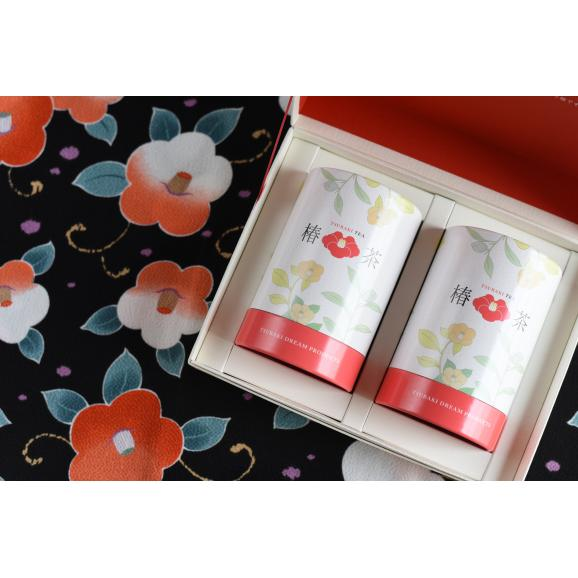 椿茶 茶筒 ギフト01