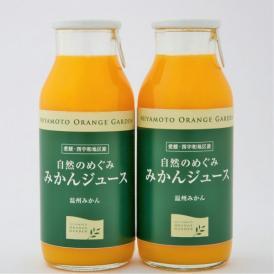 【送料無料】自然のめぐみ みかんジュース 小瓶180ml×12本