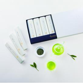 各賞受賞の実績ある「日本茶専門店 新緑園」からお届けする高級感漂う日本茶ギフト。