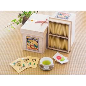 オシャレな桐箱に美味しい煎茶ティーバッグが100個入り。