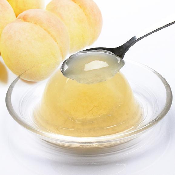 岡山県産清水白桃100% 果実たっぷりとろけるような濃質食感 清水白桃ジュレ12個入01