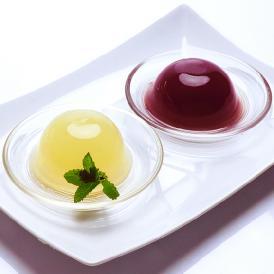 岡山県産果実100%とろけるような濃質食感 清水白桃・ピオーネジュレ12個入
