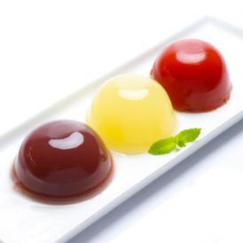 岡山県産果実100%とろけるような濃質食感 清水白桃・ピオーネ・フルーツトマトジュレ3個入