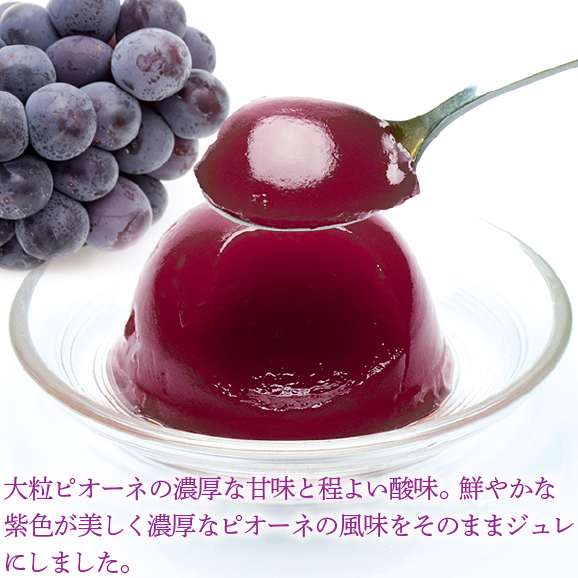 岡山県産果実100%とろけるような濃質食感 清水白桃・ピオーネ・フルーツトマトジュレ9個入04