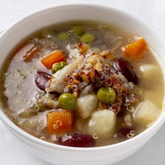 フランス産古代麦とキヌア入り菜園風スープ01