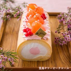 ヨーグルト風味のサワーミルククリームと桃のムースが絶妙。