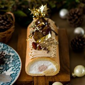【送料込】クリスマスの堂島モンブランロール【パティスリー モンシェール公式】クリスマス ギフト 贈り物